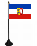 Schleswig-Holstein Desk / Table Flag with plastic stand and base.